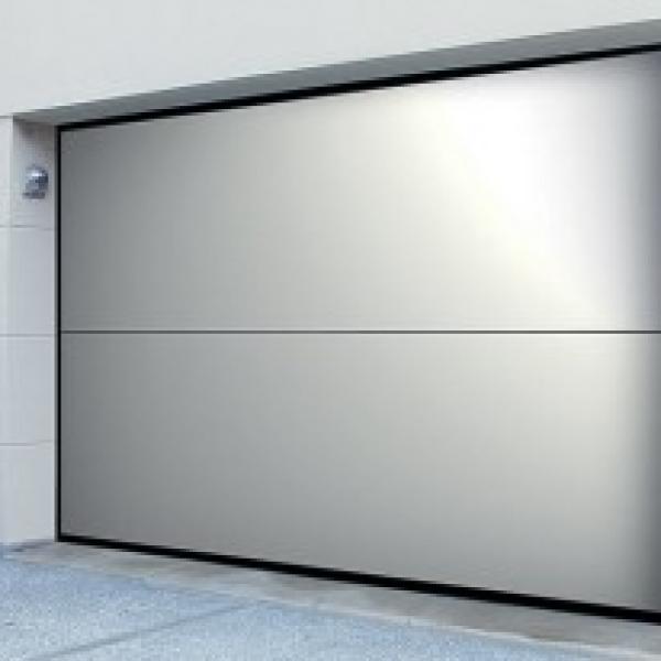 puerta de garaje overlap, de silvelox | timberplan