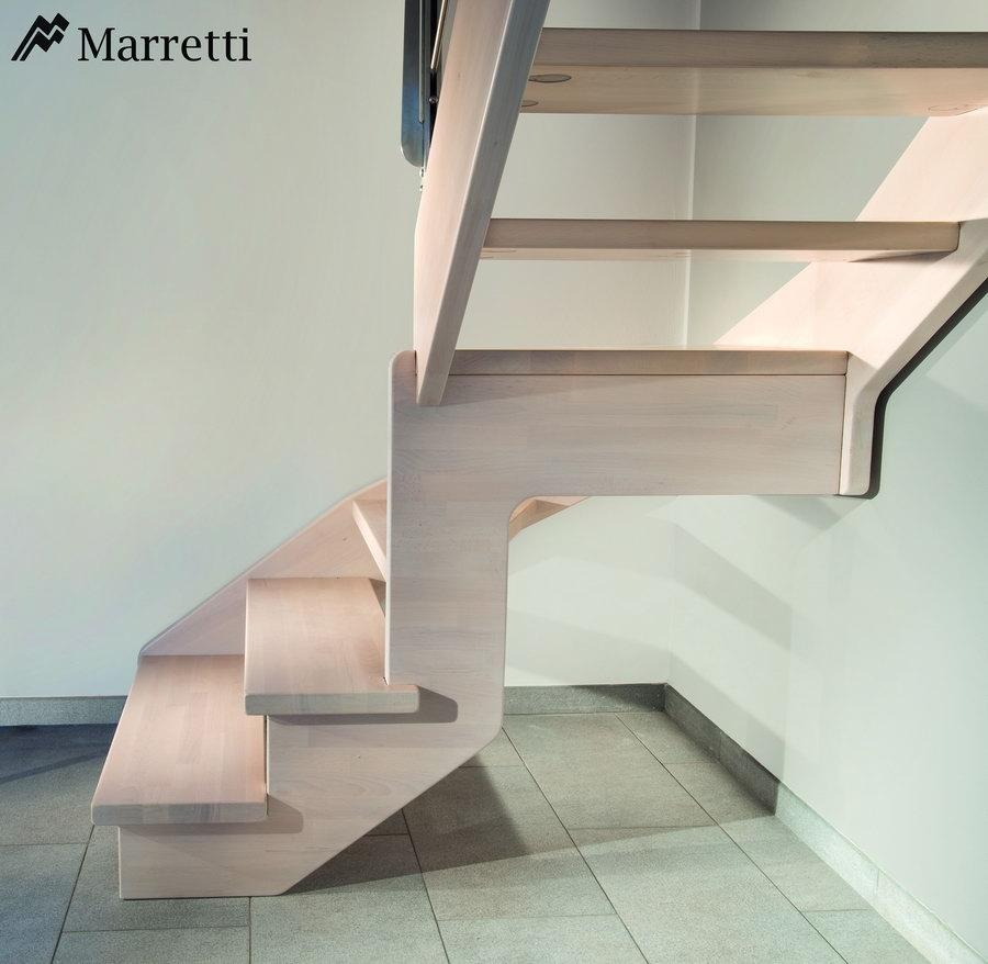 flo u escalera de rampa de madera de haya maciza x c
