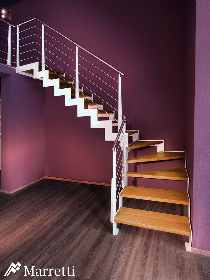 FLO 150 – Escalera de rampa de madera y acero 678x900 c