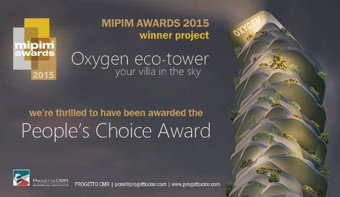 mipim awards 2015 oxygen eco tower di progetto cmr vince il peoples choice award Platform 686x397 c