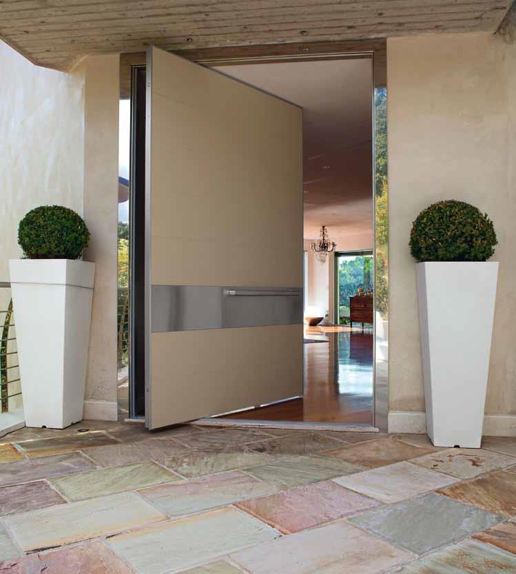 Puertas pivotantes de exterior timberplan for Puertas italianas interior