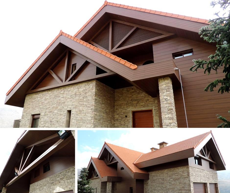 Revestimiento de fachadas con madera 40 ideas timberplan - Revestimiento de techos ...