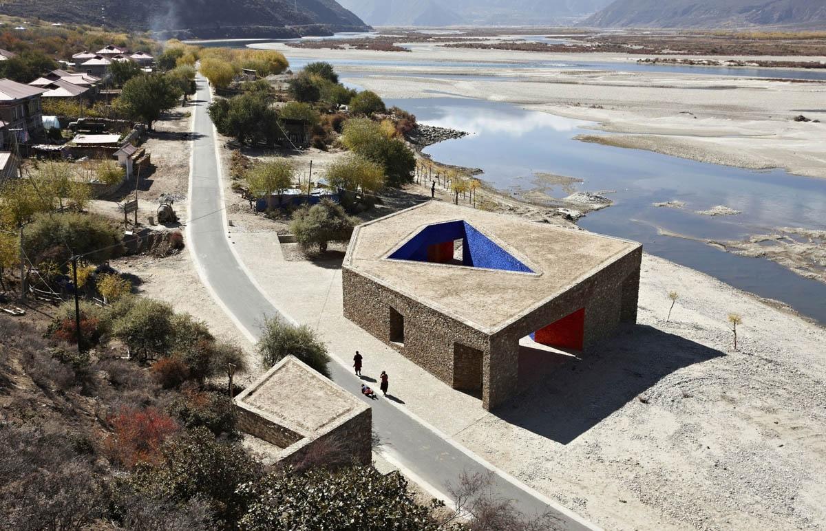Zhang Ke tibet niyang river visitor centre 05 1200x772 c